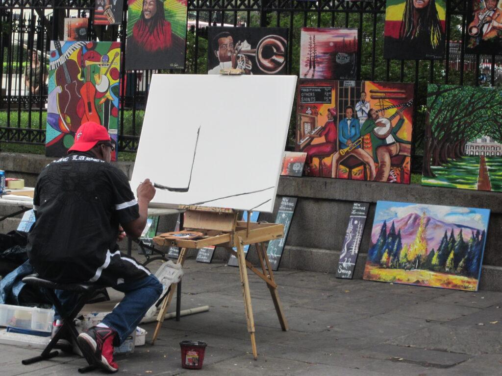 Artiste de rue_Nouvelle_Orleans